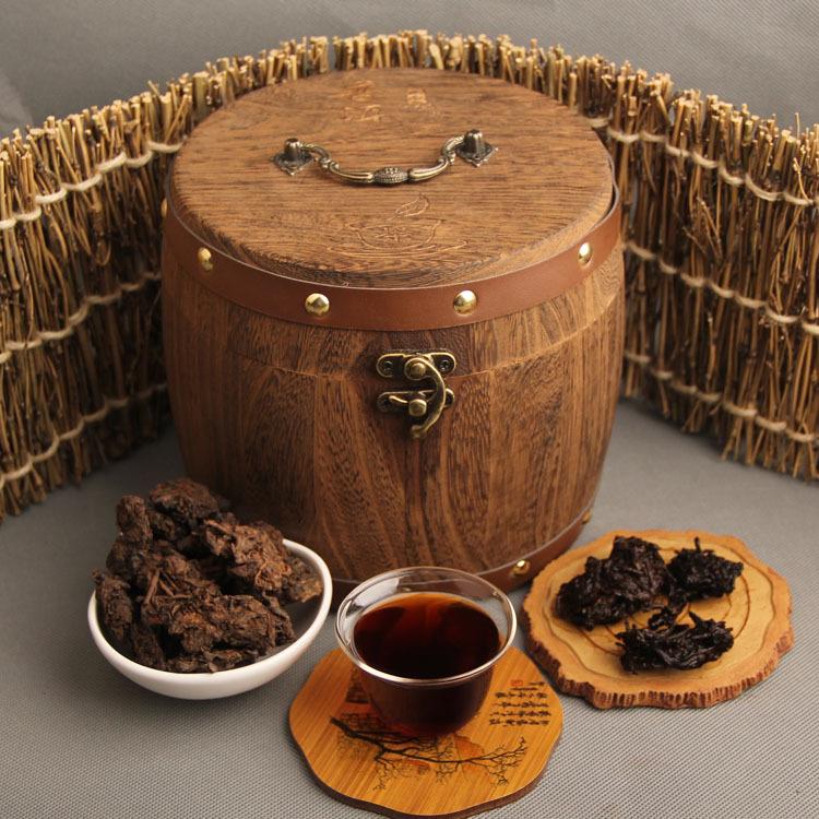 2005 Menghai old tea head in wooden barrel (500g)