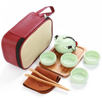Set čajový cestovní- zelená 1ks