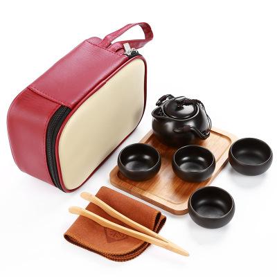 Set čajový cestovní- černý 1ks