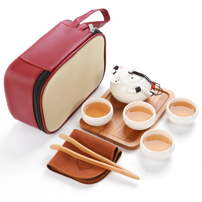 Set čajový cestovní- bílý 1ks